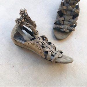 STEVEN By STEVE MADDEN Suede Gladiator Sandals